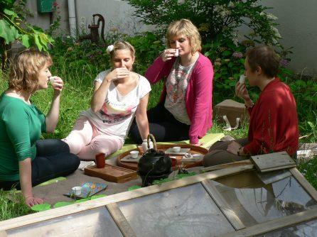 Boire le thé Oolong